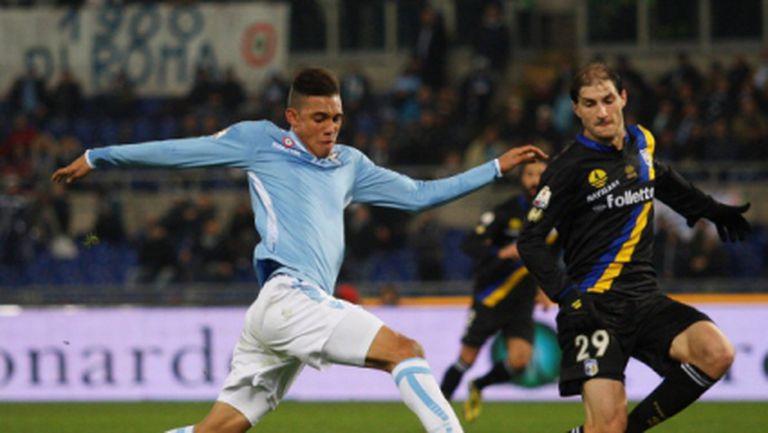 Лацио продължава защитата на купата с гол в последната минута (видео)