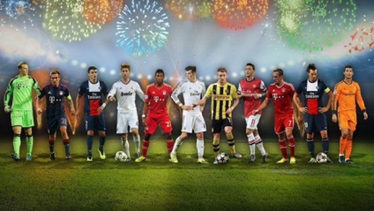 Изненада: Без Меси и Барса в идеалния отбор на УЕФА за 2013 година