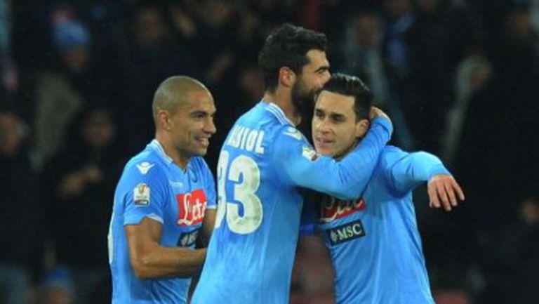 Наполи обърна Аталанта и е на 1/4-финал за Купата на Италия (видео)