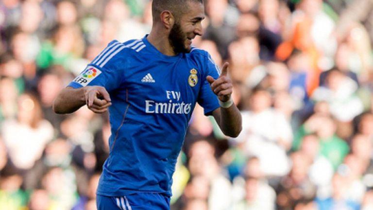 Бензема вече има 100 гола за Реал (Мадрид)