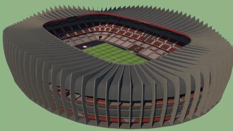 """Стадионът от клипа на Диксън в безплатен сайт за проектиране - казва се """"Кинг Палас Стейдиъм"""""""