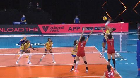 Бразилия е първият финалист в женската Лига на нациите