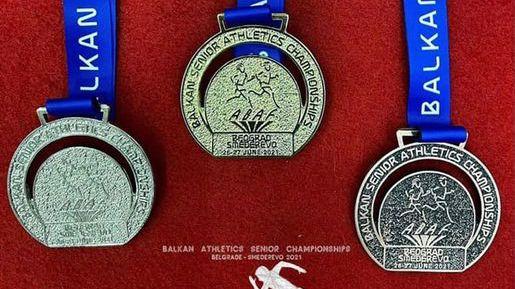 Показаха медалите за Балканиадата по лека атлетика