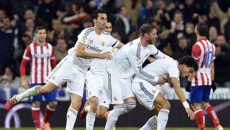 Време за мъст: Реал разкъса Атлетико и отново владее Мадрид (видео)