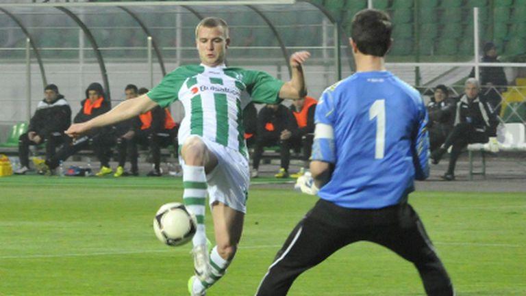 Венци Христов пак играе 45 минути за Берое при 0:0 с грузинци