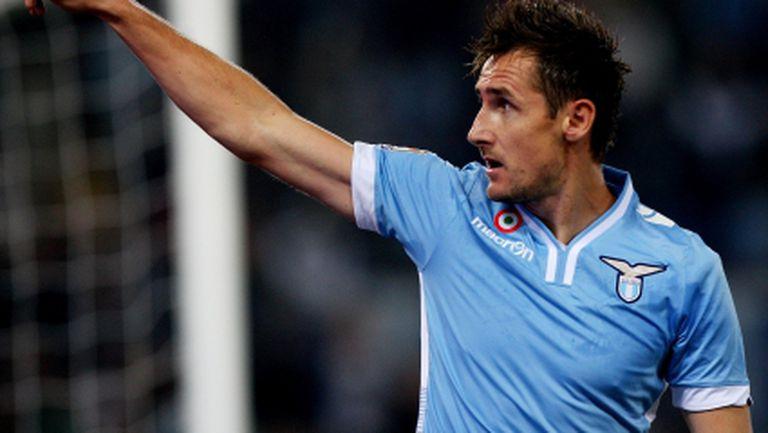 Групата на Лацио за мача с Лудогорец - Клозе е на линия