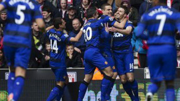 Манчестър Юнайтед е на седем точки от 20-ата шампионска титла (видео)