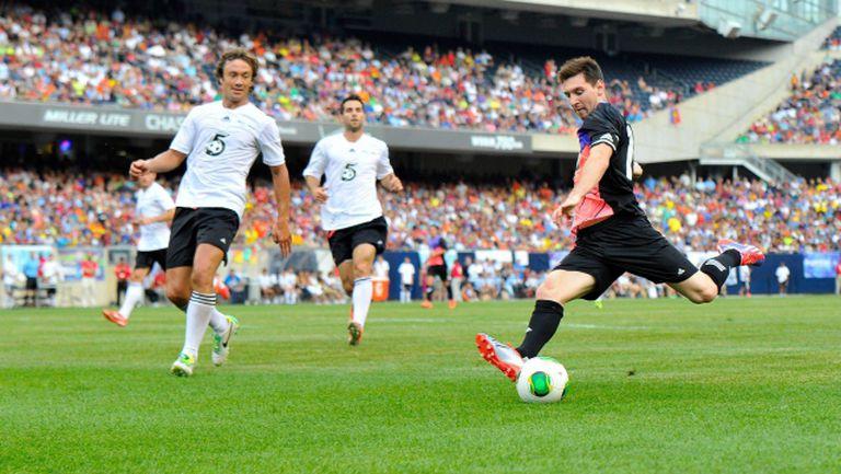 Лео Меси с 4 гола в благотворителен мач в Чикаго