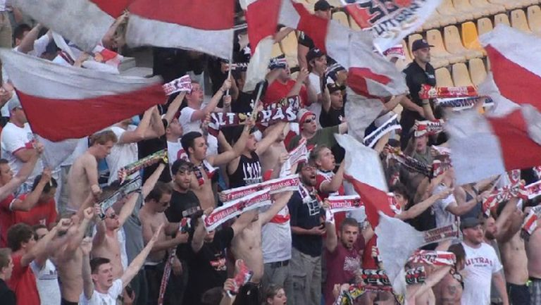 Феновете на Щутгарт срещу Ботев