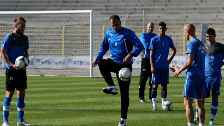Левски тренира преди мача с Ботев (Пд)