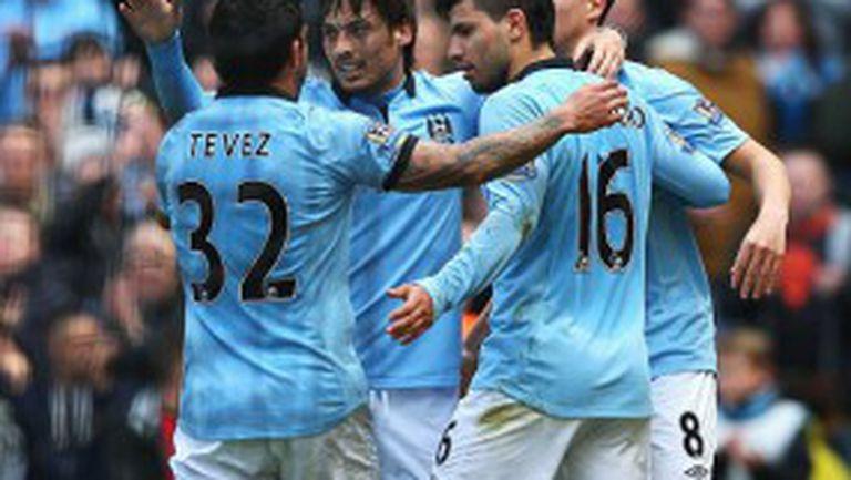 Манчестър Сити успя да удари Уест Хам в първия си мач след детронацията (видео)