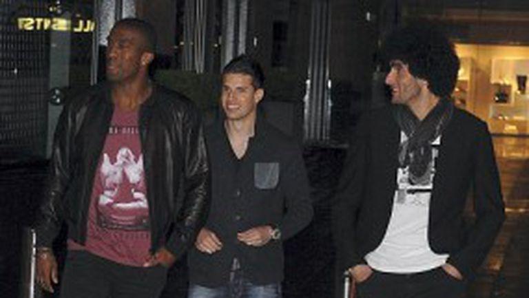 Трима от Евертън се озоваха на партито по случай 20-ата титла на Ман Юнайтед