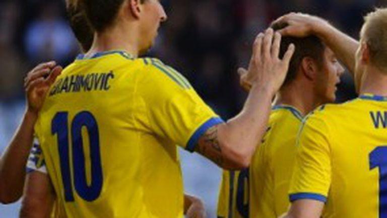 Съотборник на Бербатов носи победа на Швеция над Македония (видео)