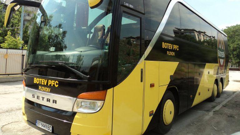 Новият автобус на Ботев Пд (снимки)