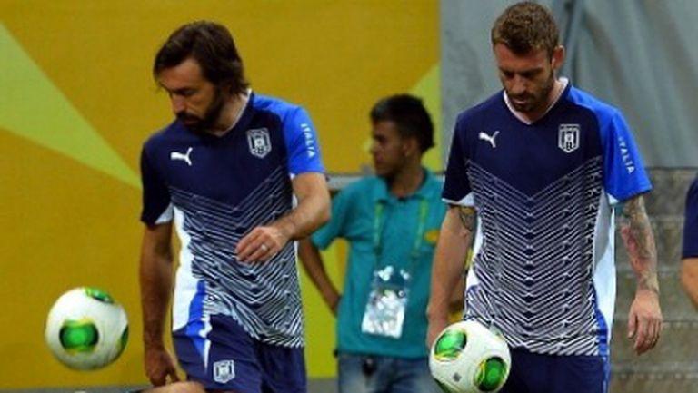 Пирло и Де Роси пропускат мача с Бразилия