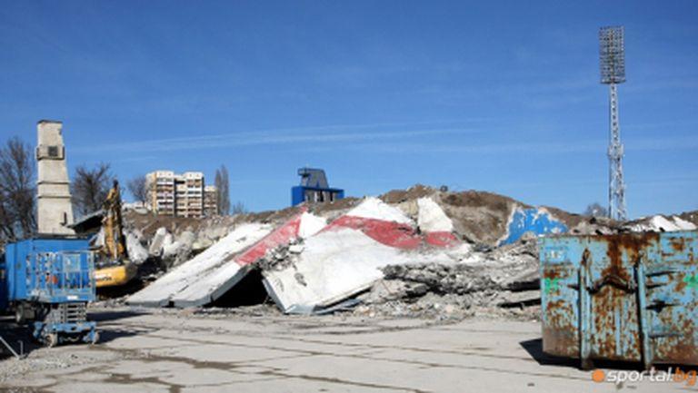 """Левски налива първи бетон с капсула на времето на """"Герена"""""""
