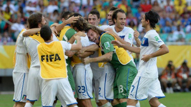 Италия излъга Уругвай в страхотен мач и драма с дузпи (видео)