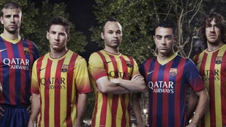 Барса изряза Тиаго от снимка с новите екипи