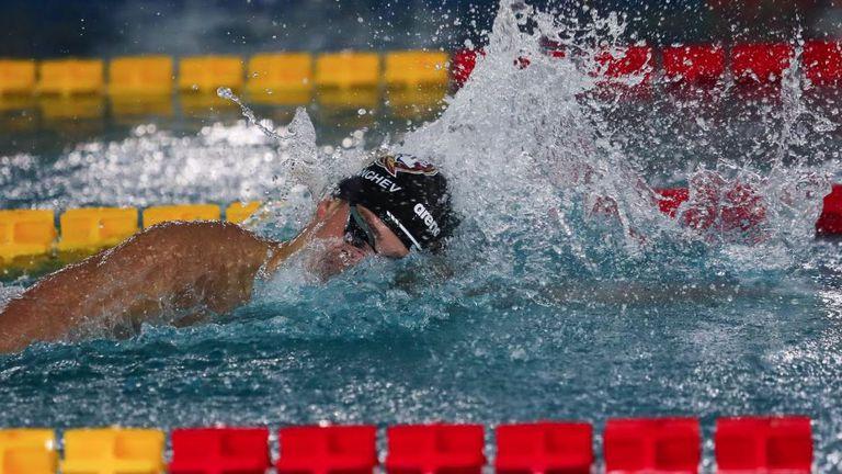 Шампионското плуване на Йордан Янчев на 400 м свободен стил