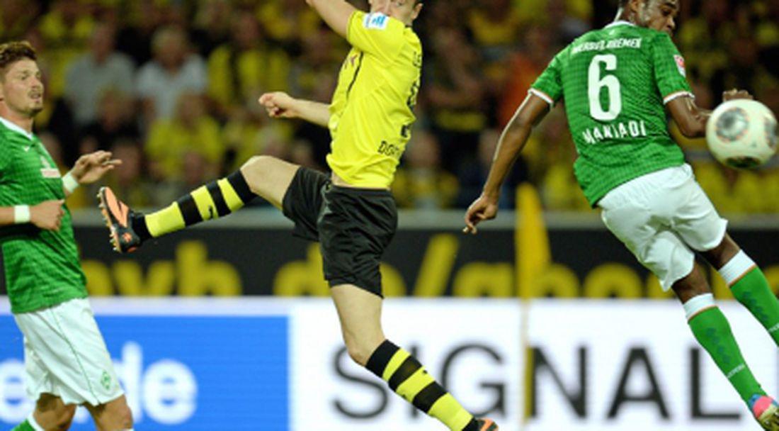 Борусия (Дортмунд) развинти Вердер, но спечели само с 1:0 (видео)