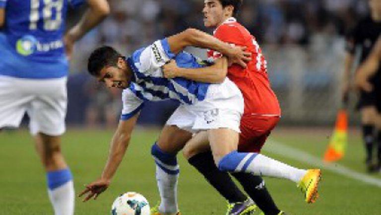 """Реал Сосиедад не успя да прекърши Севиля на """"Аноета"""" (видео)"""