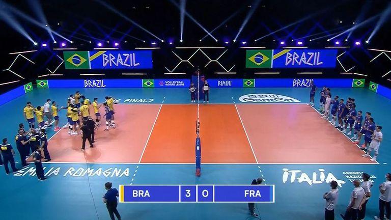 Лига на нациите (мъже): Бразилия - Франция 3:0