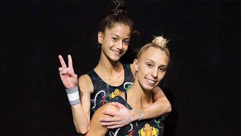 Полин Петрова и Еванджелин Ясмин Михайлова се класираха за финала на двойки жени 12-19 години на ЕП по спортна акробатика