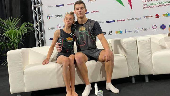 Две седми места за България в днешните финали на Европейското по спортна акробатика в Пезаро