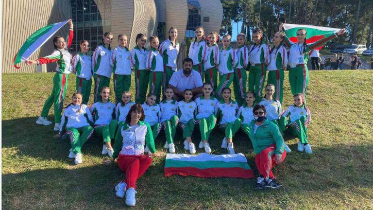Шуменските мажоретки спечелиха сребърен и бронзов медал на Европейското в Хърватия