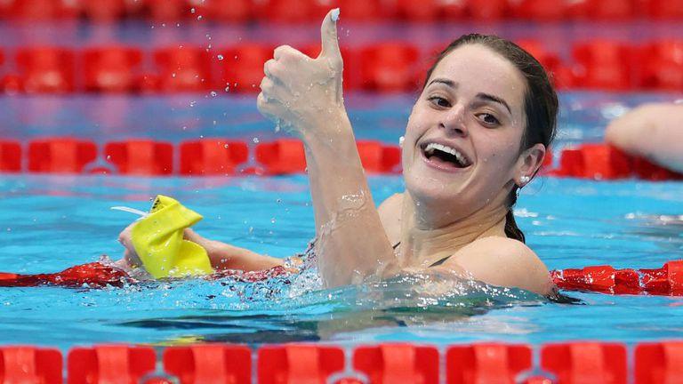 Световната рекордьорка МакКион взе златото на 100 метра гръб с нов олимпийски рекорд