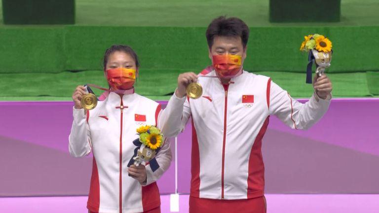 Олимпийска титла за Китай в отборната спортна стрелба на 10 м пистолет