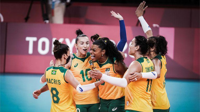 Бразилия измъкна победа над Доминиканската република след петгеймова драма🏐