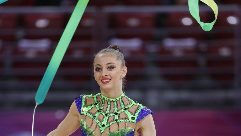 Световна купа по художествена гимнастика - Боряна Калейн - лента