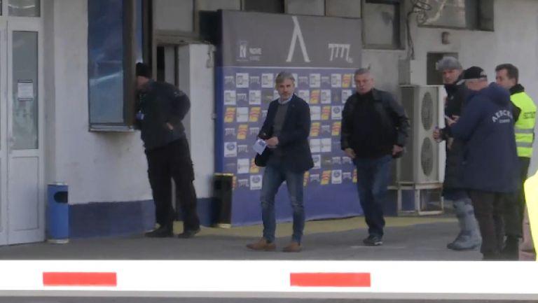 Павел Колев и Ивайло Петков са на стадиона на Левски, за да наблюдават мача със Славия