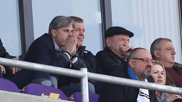 Сираков, Батков и Касабов в ложата на Левски - Славия