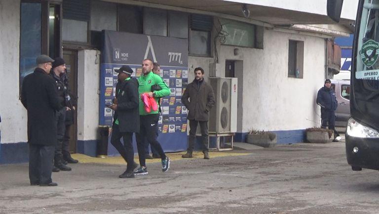 """Лудогорци пристигнаха на """"Герена"""" за важния мач с Левски"""