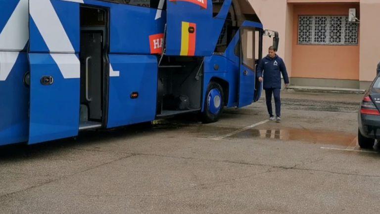 Левски пристигна на стадиона във Враца за мача с Ботев