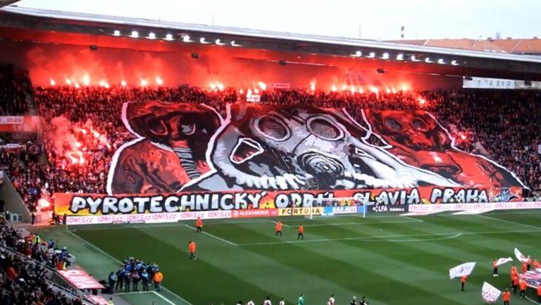 Атмосферата на дербито Славия (Прага) - Спарта (Прага)