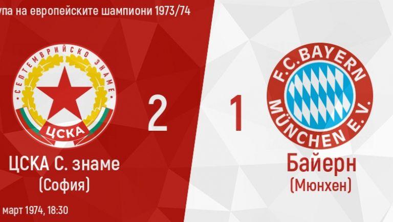 На този ден – ЦСКА побеждава Байерн (Мюнхен)