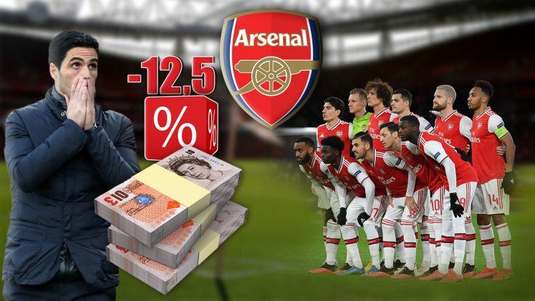 Треньори и играчи в Арсенал ще взимат по-малко пари следващата годинa