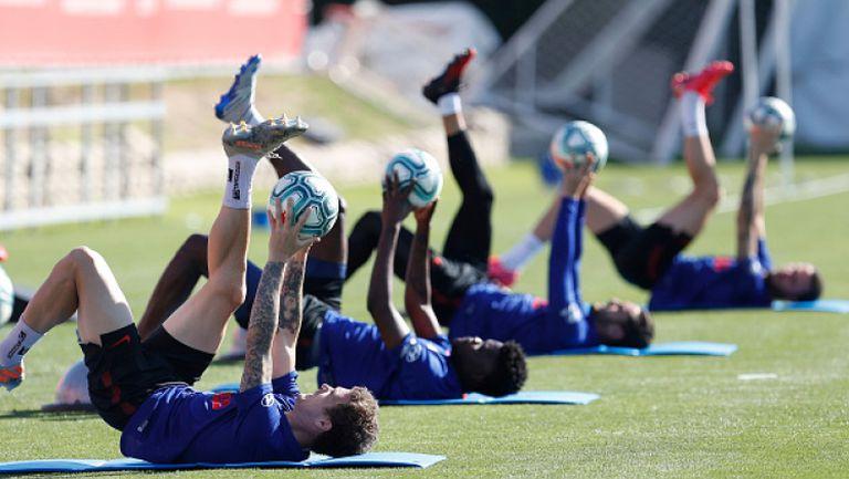 В Атлетико Мадрид продължават подготовката си за рестарта на сезона