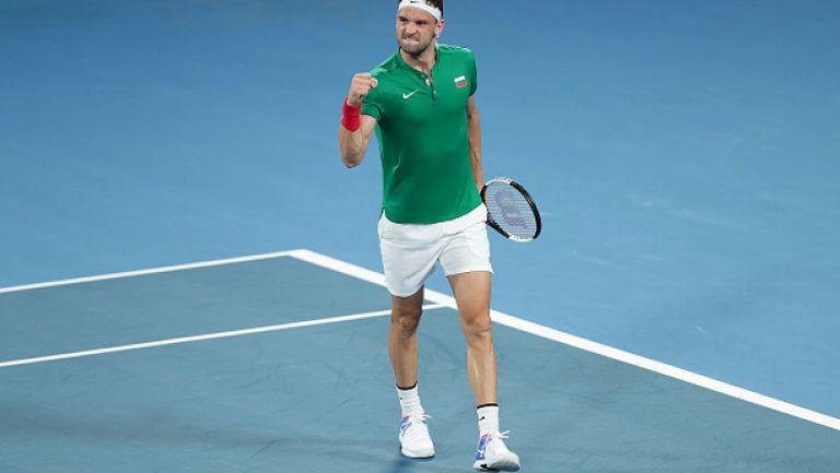 Григор осигури първа победа за България на ATP Cup!