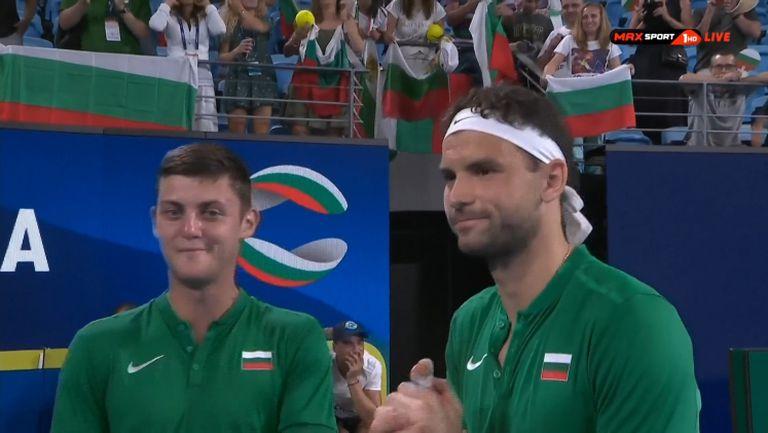 Александър Лазаров: Не съм играл такъв мач, невероятно е да бъда на корта с Григор Димитров