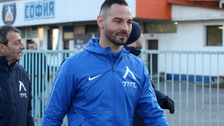 Симеон Славчев и Деян Лозев с първа тренировка със синия екип