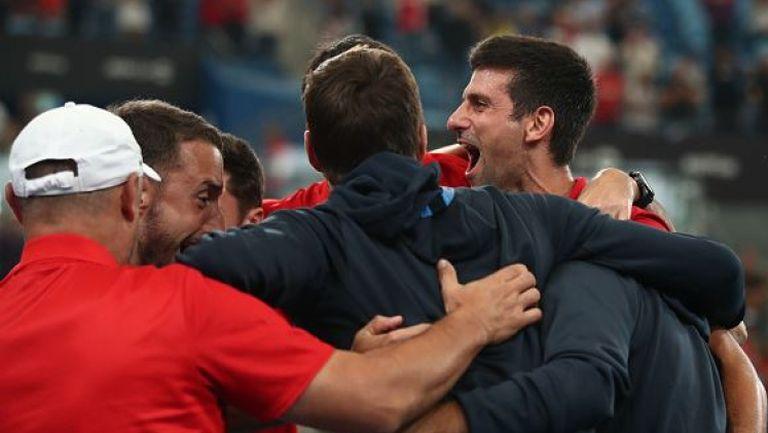 Джокович изпрати Сърбия на финал на ATP Cup