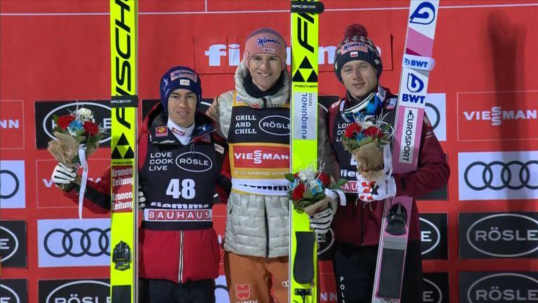 Карл Гайгер спечели състезанието от Световната купа по ски-скок на малката шанца