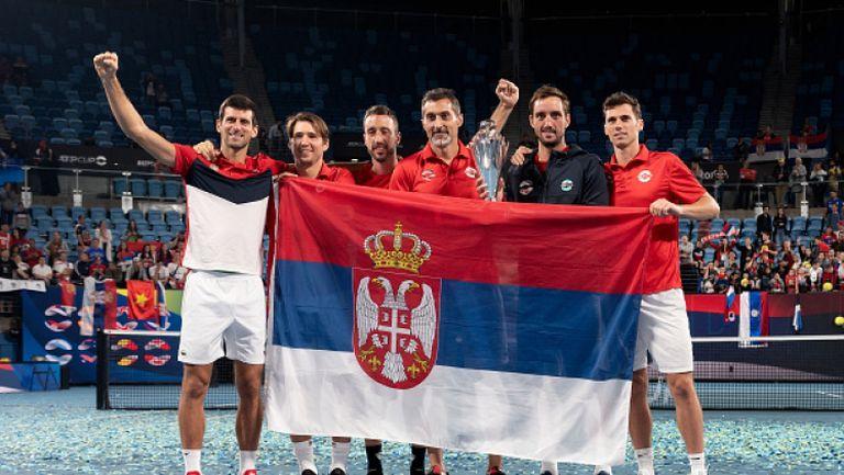 Сърбия триумфира в ATP Cup