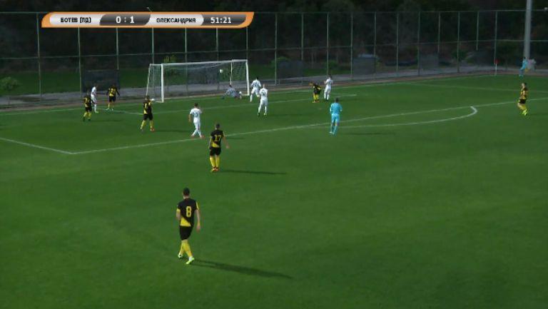 Стрецов вкара за втори път топката в мрежата на Ботев