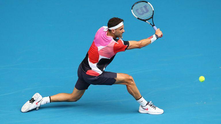 Григор се бори 4 часа, но отпадна от Australian Open