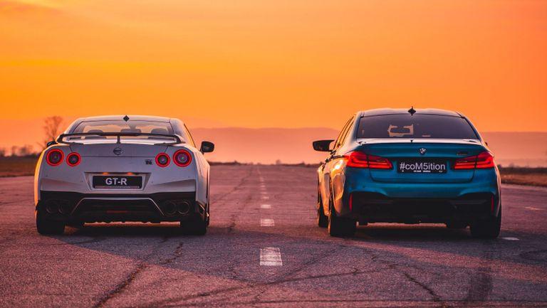 BMW M5 Competition срещу легендарния Nissan GT-R